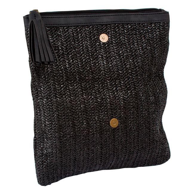 6b8a0e714 Bolso tipo sobre de 25 cm color negro - Panamericana