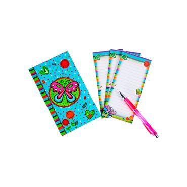 Set de libreta + cuaderno mini + bolígrafo, diseño cupcakes ...