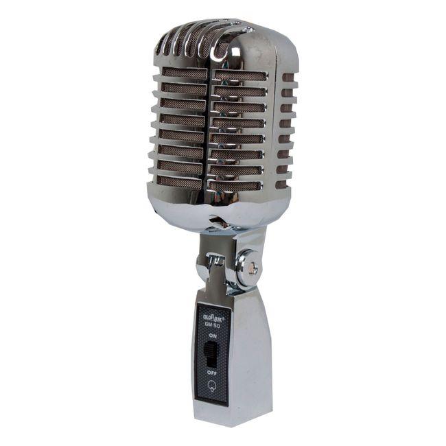 Microfono Retro Alambrico Gloarik Gm 50 Panamericana