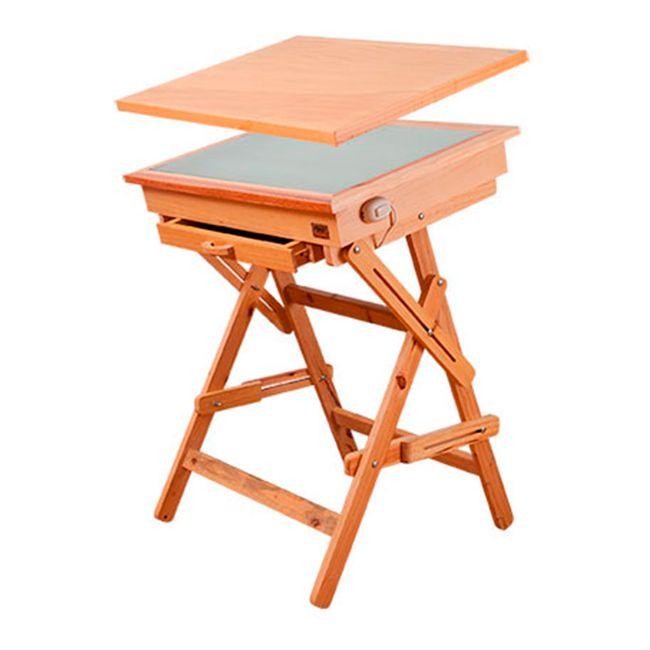 Mesa de dibujo iluminada por 2 tubos 80 x 60 cm panamericana - Mesa de dibujo portatil ...