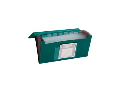 archivador-tipo-fuelle-1-4-a4-con-13-bolsillos-color-verde-4710581323530