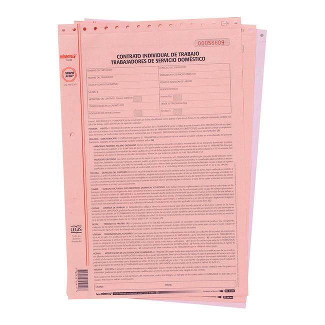 Contrato Individual De Trabajo Para Servicio Domestico Ref Forma