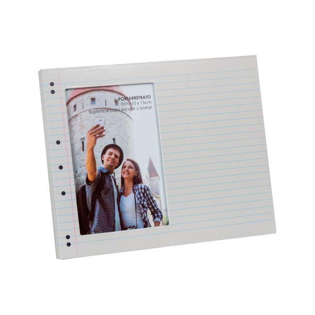 Portarretratos de 10 cm x 15 cm, diseño hoja de cuaderno rayado ...