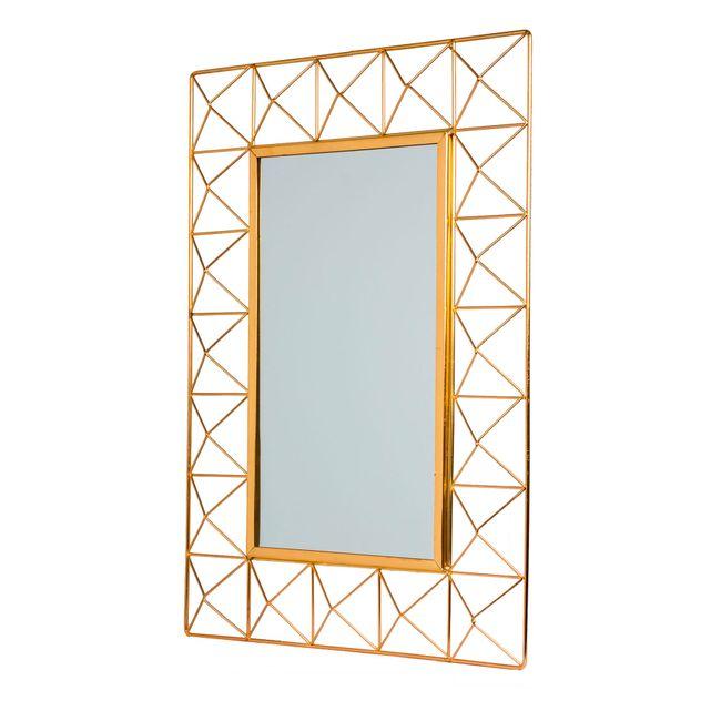 Espejo de pared con cuadros, con marco dorado - Panamericana