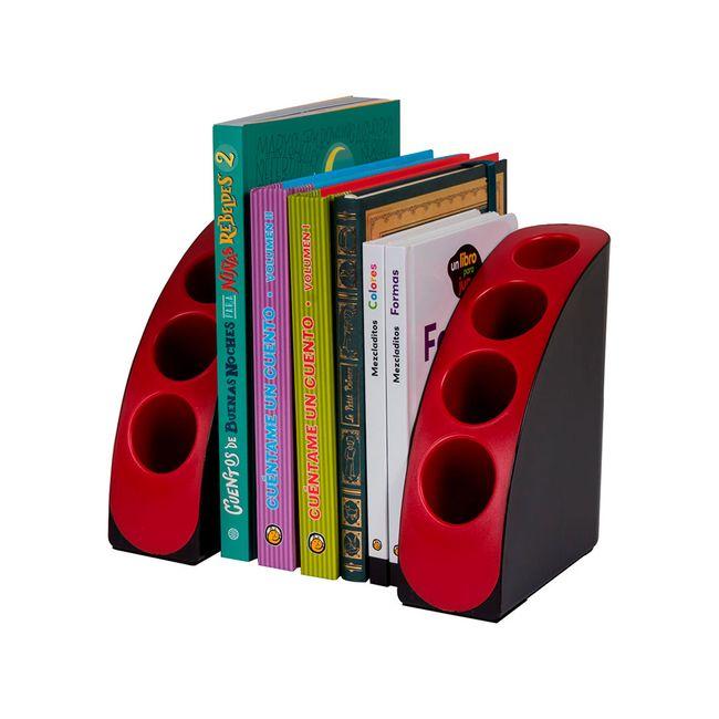 5057f6062 Soporte organizador para libros, rojo con negro - Panamericana