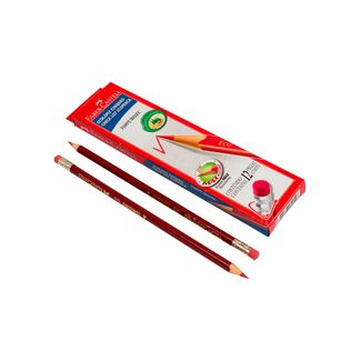 lapiz-rojo-chequeo-triangular-12-unidades-7891360629528
