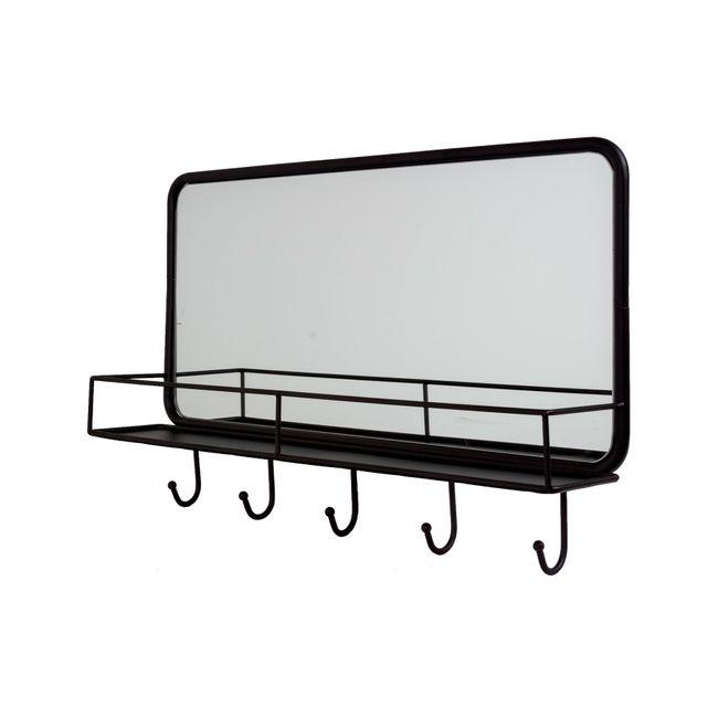 Espejo de pared rectangular negro panamericana for Espejo rectangular pared