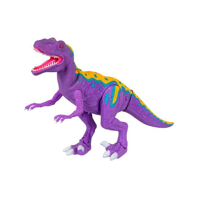 Velociraptor de 51 cm con luz, sonido y movimiento - Panamericana