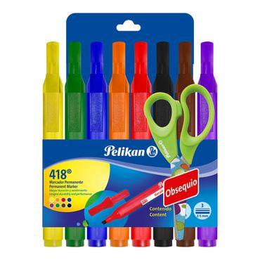 marcador-permanente-pelikan-418-x8-und-gratis-7703064002760