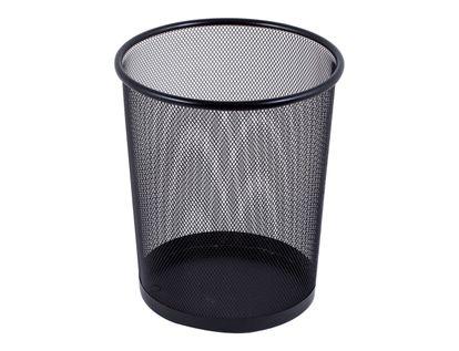 caneca-metalica-circular-en-malla-negra-7701016759298