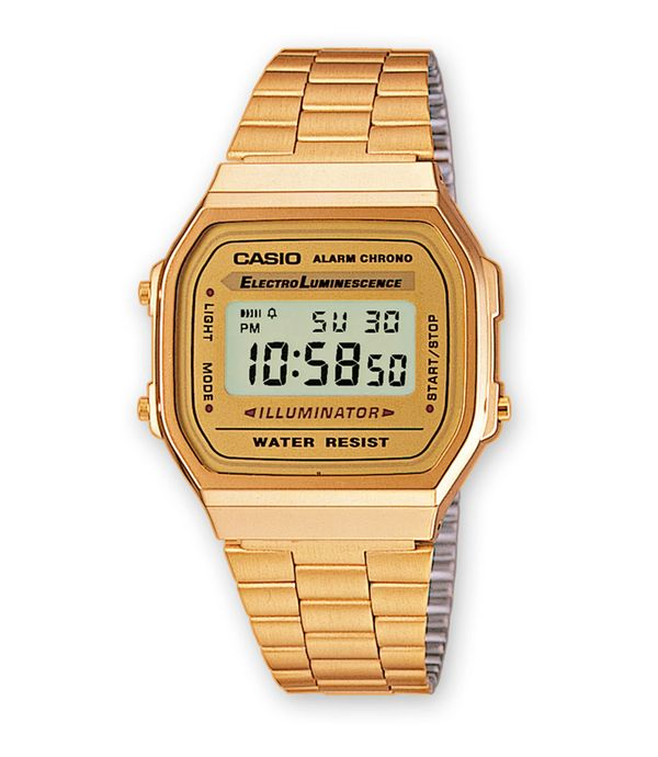 168wg Digital Casio A Reloj 9wdfDorado Panamericana Dama New Para VUqMpSz