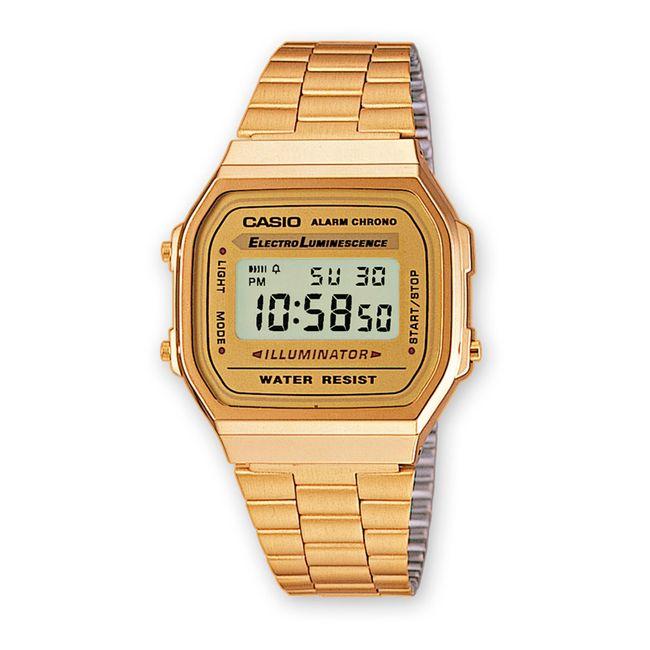 3987a37c72af Reloj digital Casio para dama A-168WG-9WDF