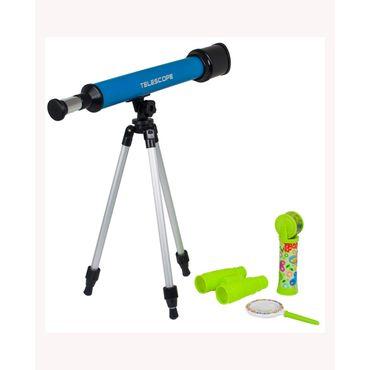set-laboratorio-de-ciencia-4pzs-telescopio-c-tripode-binocular-lupa-caleidoscopio-7701016202909