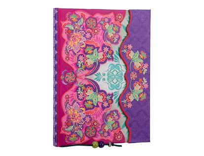 libreta-ejecutiva-14-5x20-cm-hojas-mix-collage-pink-flores-sol-iman-1-9788416586455