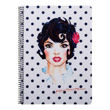 cuaderno-a4-80-hojas-cuadriculado-diseno-mujer-puntos-negros-8422831320577