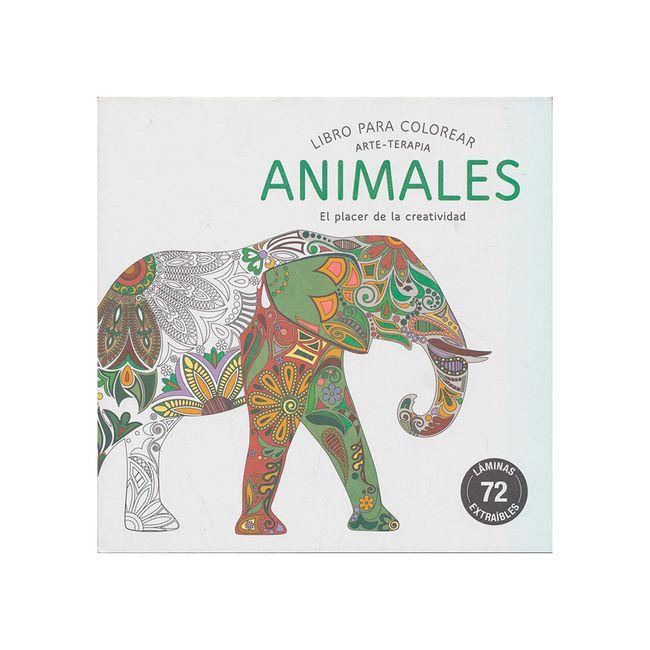 Animales. Libro para colorear (arte-terapia) - Panamericana