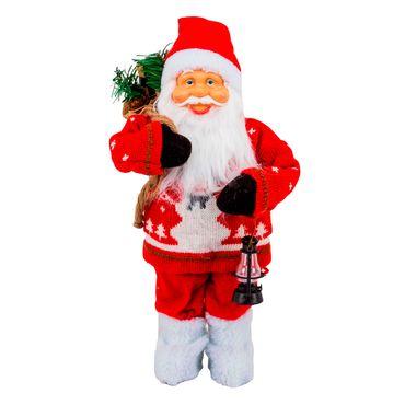 Santa-buso-rojo-con-hombre-de-nieve-bolsa-y-lampara---38-cm