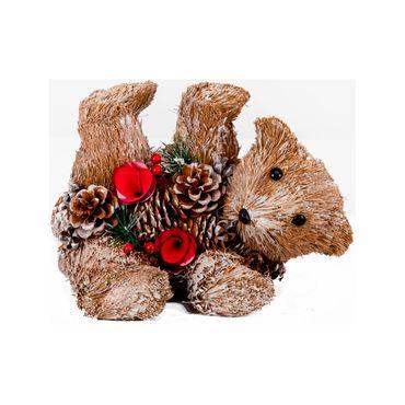 Oso-cafe-decoracion-navideña