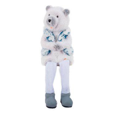 Oso-polar-sentado-brazos-cerrados-con-chaleco-azul---13-cm