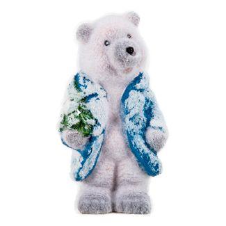Oso-polar-con-arbol-y-abrigo-azul---16-cm