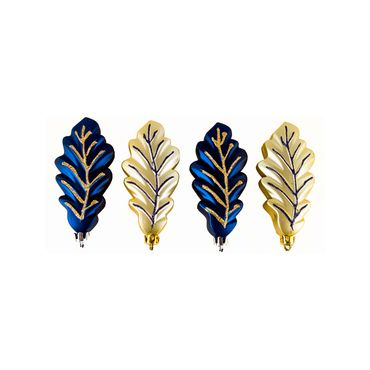 Set-de-4-adornos-navideños-hojas-color-dorado-y-azul