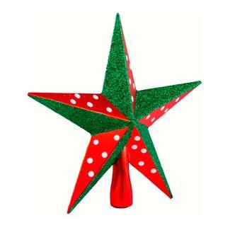 Estrella-punta-de-arbol-rojo-con-verde
