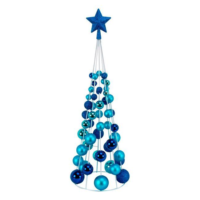 Rbol de navidad de 60 cm dise o de esferas panamericana - Arbol de navidad morado ...
