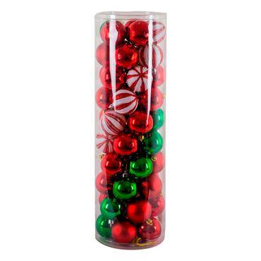 Set-de-bolas-navideñas-por-50-piezas-rojas-y-verde