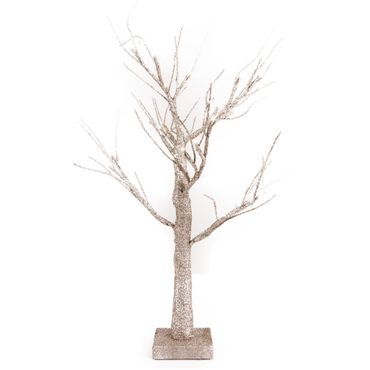 Arbol-LED-escarchado---24-luces---60-cm