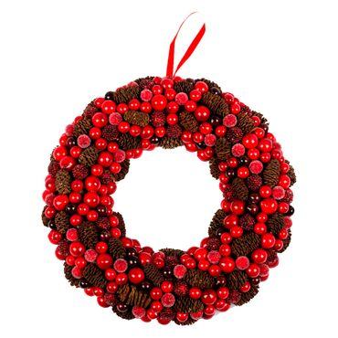 Corona-con-piñas-frutos-rojos-y-moras---26-cm