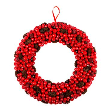 Corona-con-piñas-frutos-rojos-y-moras---33-cm