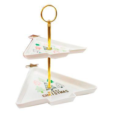 Bandeja-arbol-de-navidad-Blanco-en-ceramica---2-piezas