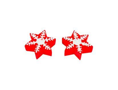 Set-de-velas-Copo-de-nieve-rojo-y-blanco-x-2