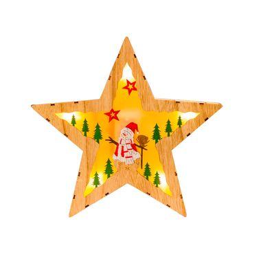 Estrella-con-Luz-LED-y-hombre-de-nieve-con-arbolitos---25.5-cm