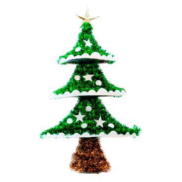 Arbol-de-navidad-pequeño-adornos-estrellas-y-bolas-escarchadas