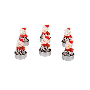 set-de-velas-hombre-de-nieve-con-bufanda-roja-x-6-7701016473583