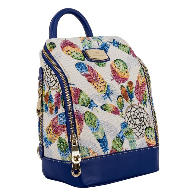 fa6bb8dd6 Bolso Henney Bear azul, tipo morral, diseño atrapasueños - Panamericana