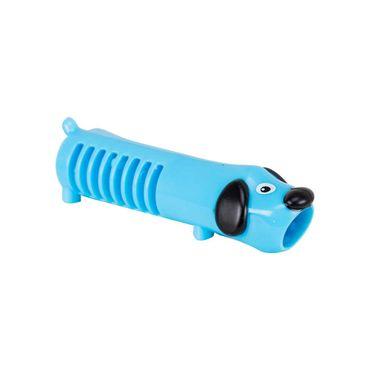 Sacapuntas-sencillo-azul-con-figura-de-perro