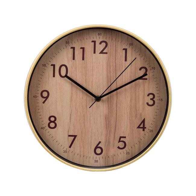 f39e4a3cfc70 Reloj de pared con diseño fondo de madera - Panamericana