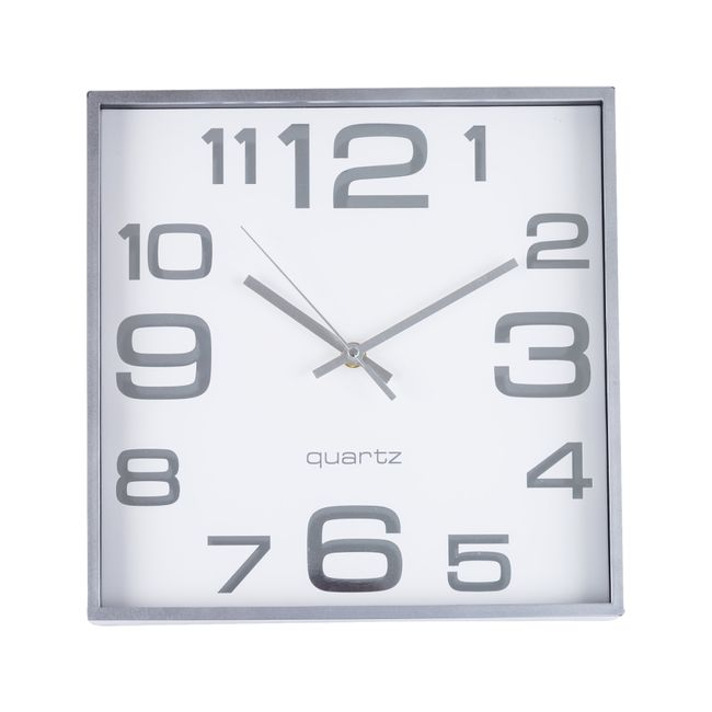 b2295eda353 Reloj de pared cuadrado, color blanco - Panamericana