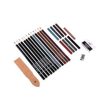 set-lapices-de-dibujo-25-piezas-tonos-tierra-7701016541794