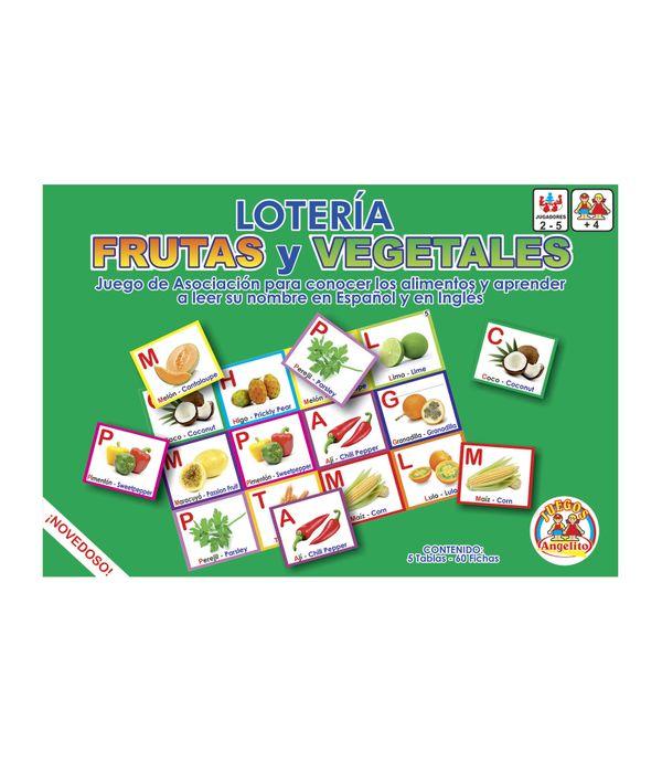 Lotería De Frutas Y Vegetales Español Inglés