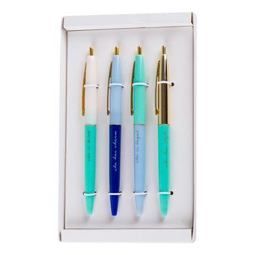 set-boligrafos-4und-just-for-you-dorado-pastel-6971706321116