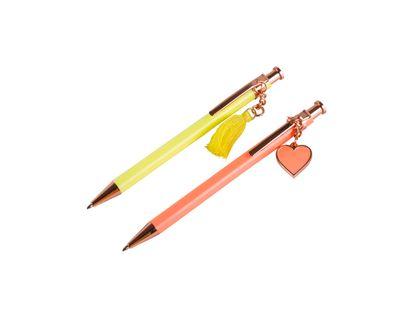 boligrafo-x-2-und-rosado-y-amarillo-con-colgantes-6971706321222