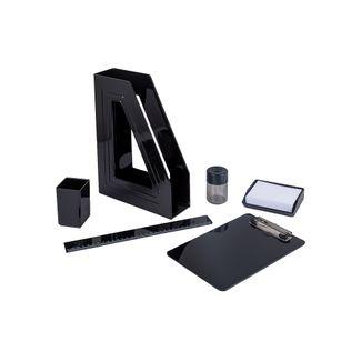 set-de-escritorio-6-pzs-negro-7896292297432