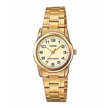 8ab761279 Reloj analógico Casio LTPV001G-9BUDF para mujer, dorado