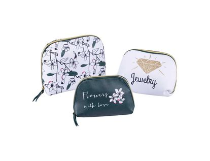set-cosmetiquera-3-piezas-flores-verde-y-blanco-7701016509800