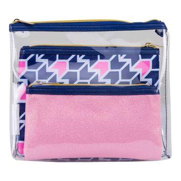 set-cosmetiquera-3-piezas-flechas-azul-y-rosado-7701016510165