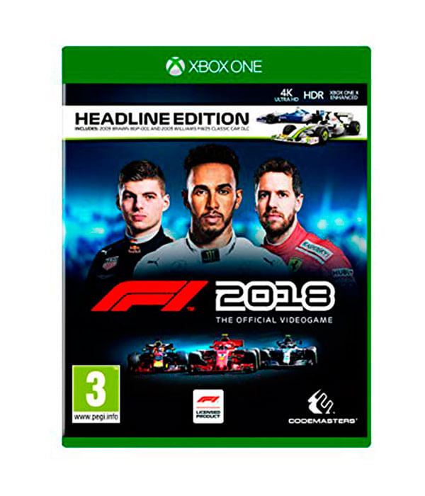 Juego f1 2018 headline edition para xbox one