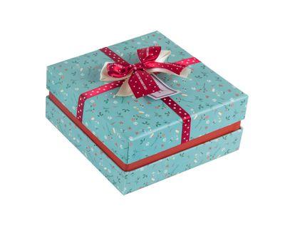 caja-de-regalo-7-3-cm-x-14-7-cm-verde-menta-flores-estampadas-7701016709125